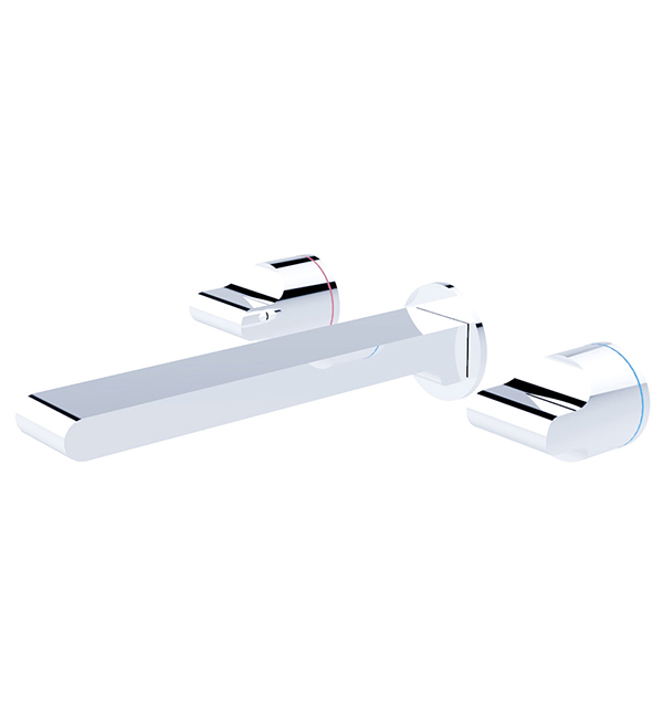 Pearl Wall Basin Set Chrome