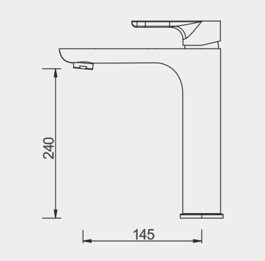 Plush High Basin Mixer Dimensions