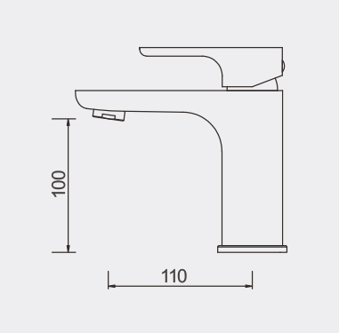 Plush Basin Mixer DImensions