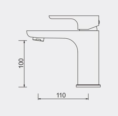 Plush Basin Mixer - Rose GOld Dimensions