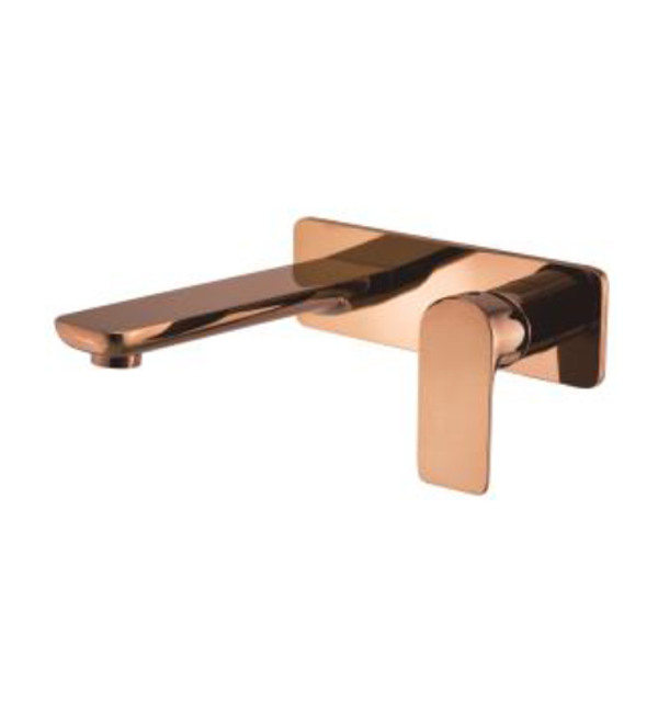 Plush Rose Gold Wall Basin Bath Mixer