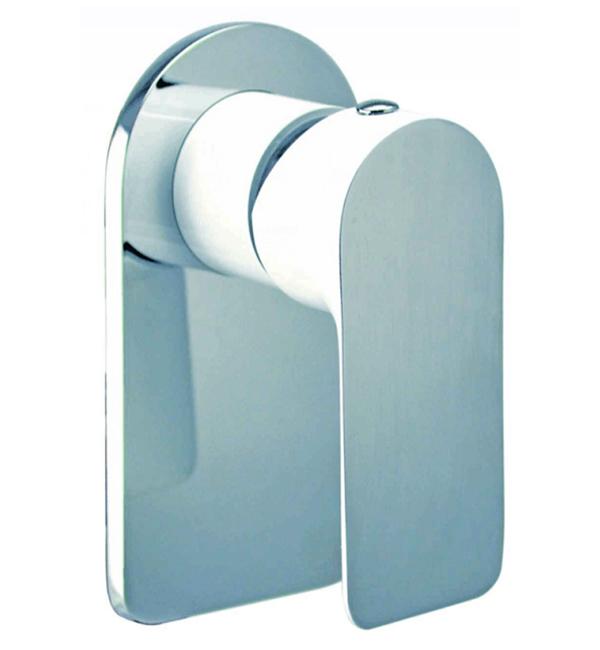 Plush White Bath Shower Mixer