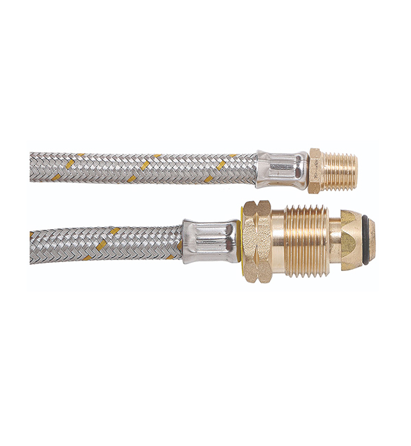 6mm Flex Stainless Steel Braided Pigtail