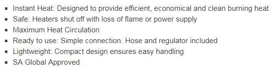 ROF1050 Outdoor industrial heater features