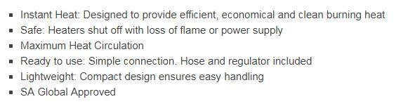 ROF1055 outdoor industrial heater features