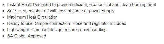 ROF1060 outdoor industrial blow heater features