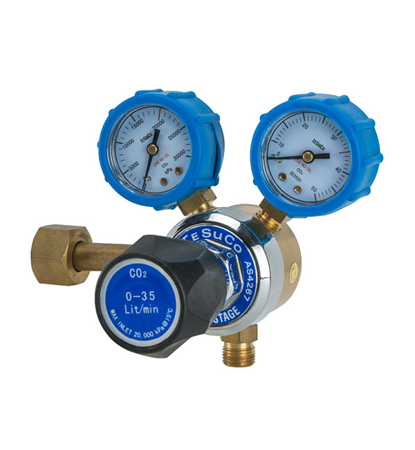 Regulator 1 Stage Side Entry CO2 Flowgauge Type 30