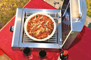 "Table Top Gas BBQ with 12"" Pizza Stone"