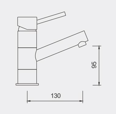 Tosca Swivel Basin Mixer Dimensions