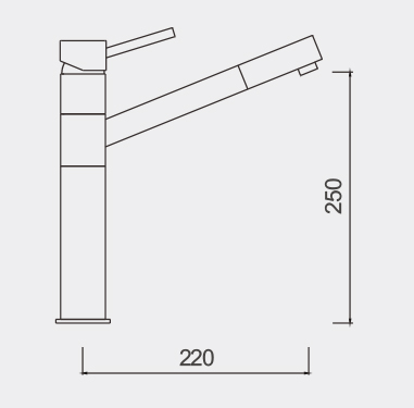 TOsca Kitchen Mixer Dimensions