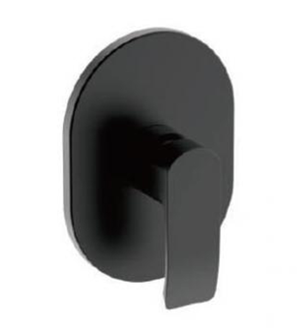 Italia Azzurro Shower Mixer Matt Black