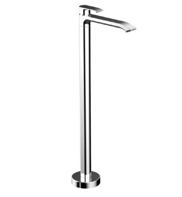 Italia Azzurro Floor Mounted Pillar Bath Mixer Chrome
