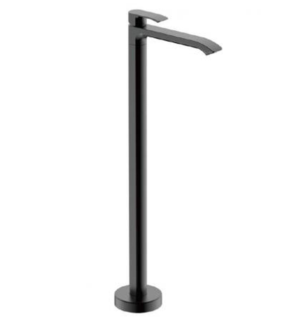 Italia Azzurro Floor Mounted Pillar Bath Mixer Matt Black