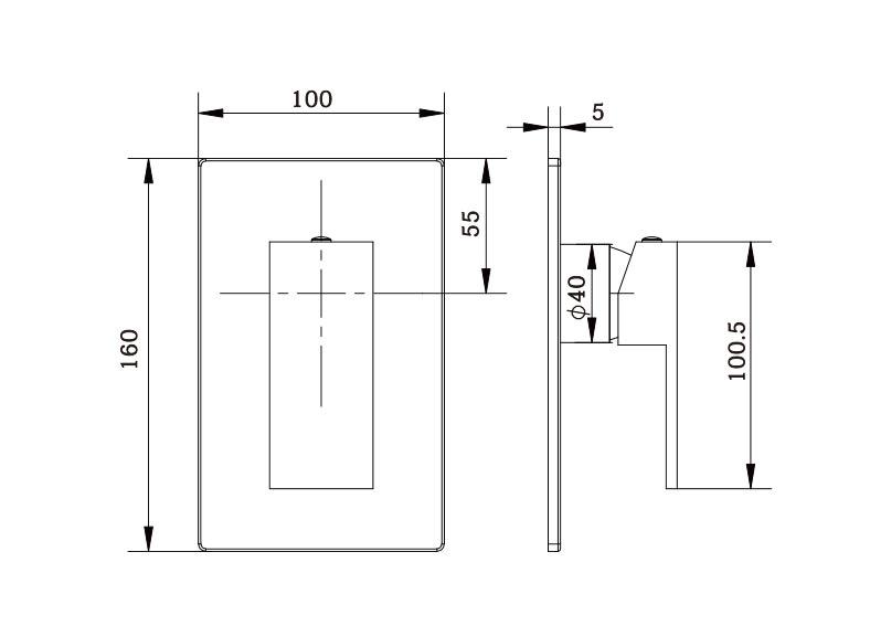 Ottavo Shower Diverter  Mixer CP