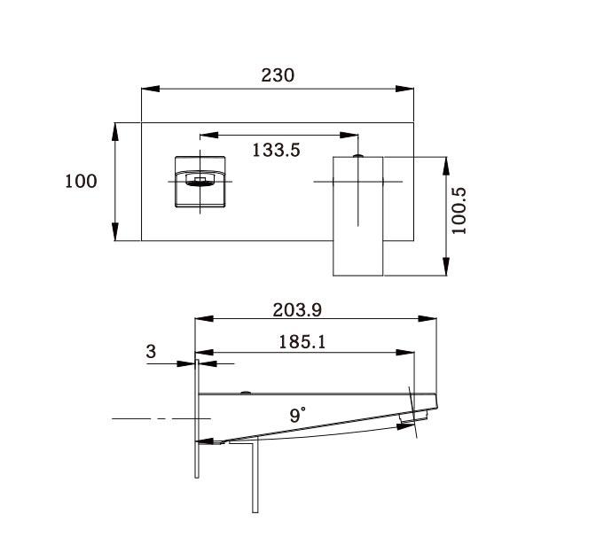 Ottavo Wall Plate Mixer CP