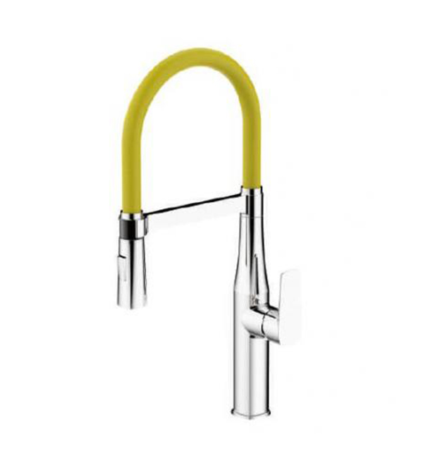 Type A Single Handle Pull Out Mixer Yellow