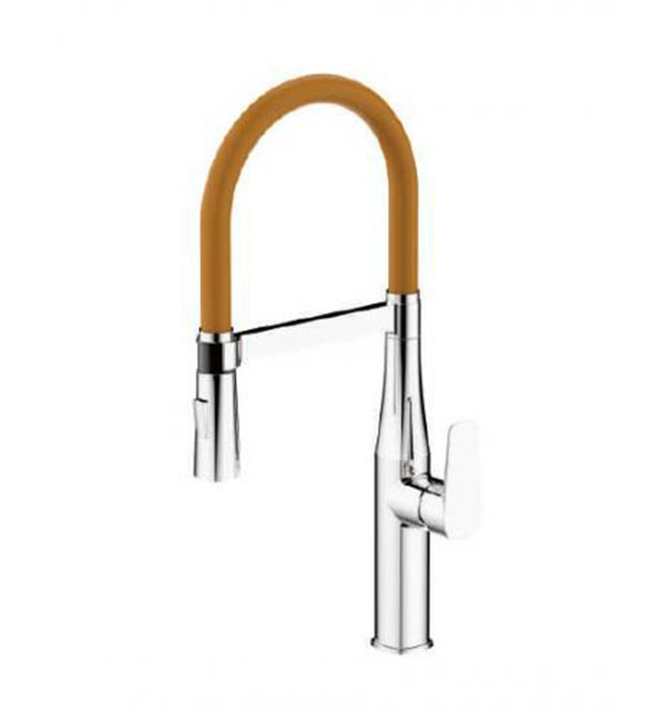 Type A Single Handle Pull Out Mixer Orange