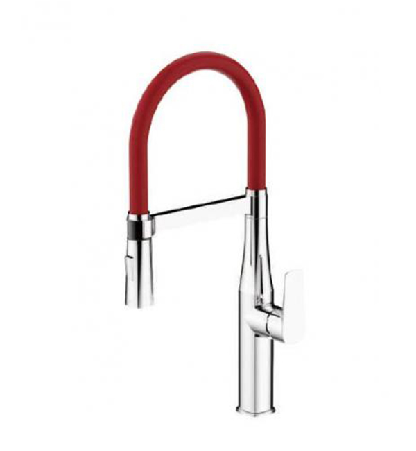 Type A Single Handle Pull Out Sink Mixer Red