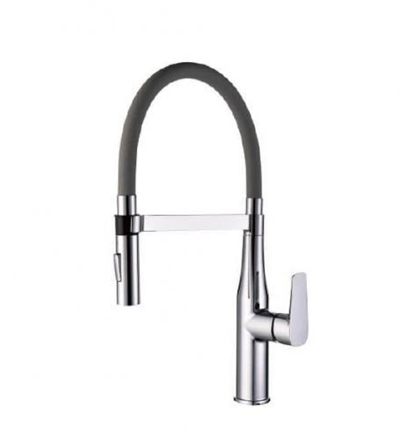 Type A Single Handle Pull Out Sink Mixer Silver