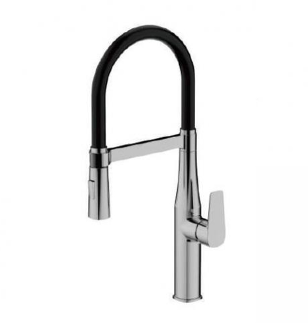 Type A Single Handle Pull Out Sink Mixer Black GM Body