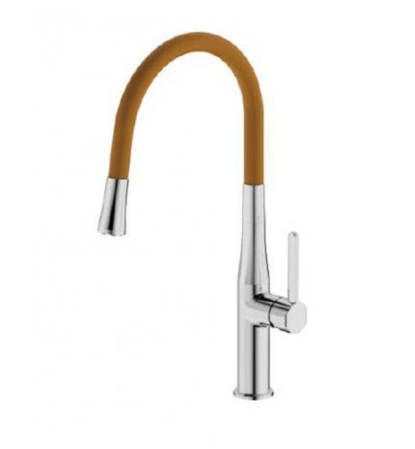 Type B Single Handle Pull Out Sink Mixer Orange