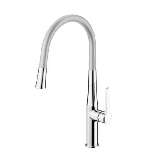 Type B Single Handle Pull Out Sink Mixer Silver