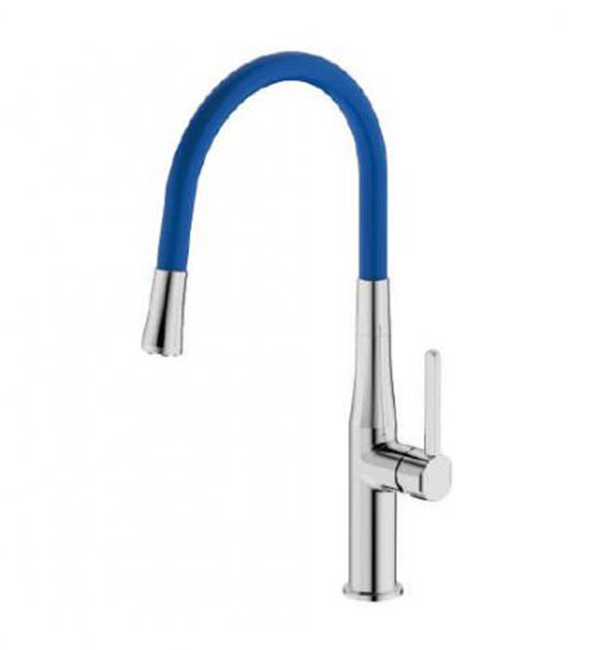 Type B Single Handle Pull Out Sink Mixer Blue