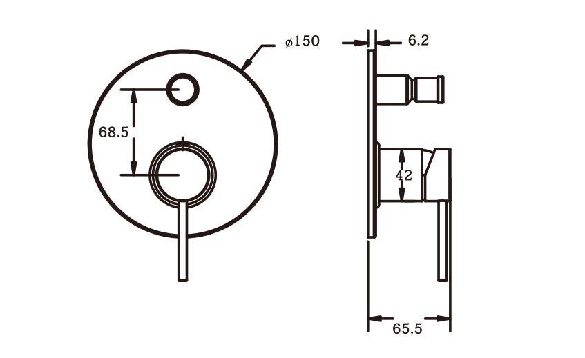 Roxi Shower Diverter Mixer CP