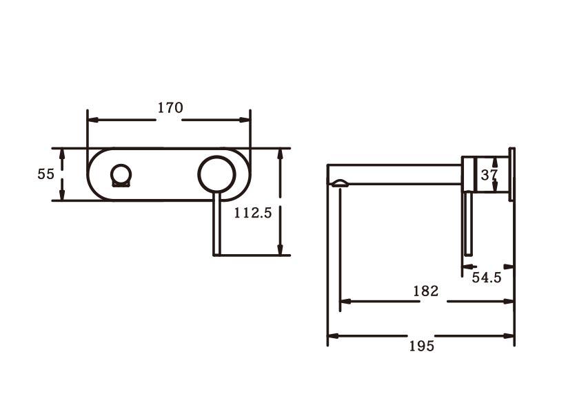 Roxi Wall Plate Mixer CP