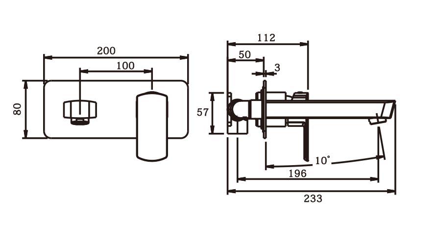 Serina Wall Plate Mixer BN