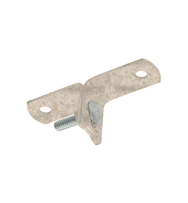 Stand off bracket bolted metal