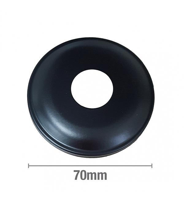 Cover Plate Flat BSP Matte Black 15mm