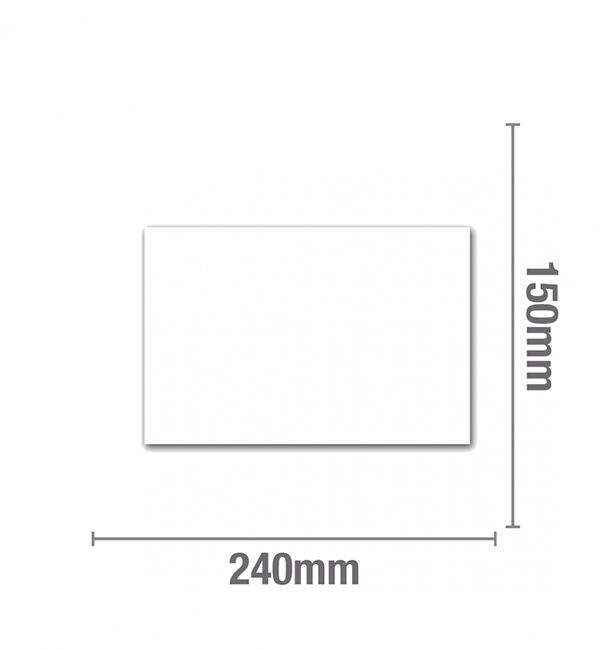 White adhesive cover plate patch