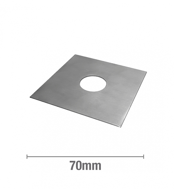 Stainless Steel – ½ Inch BSP Flat (Square) 70mm x 70mm