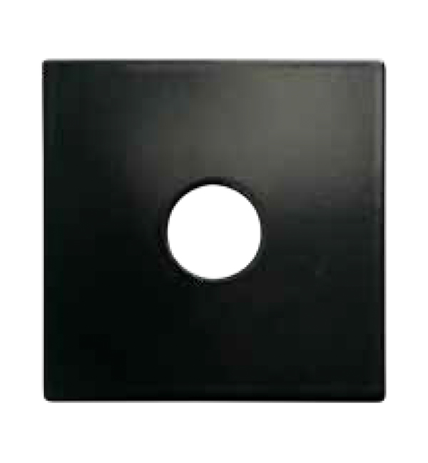 Square Flat Black Metal Cover Plate