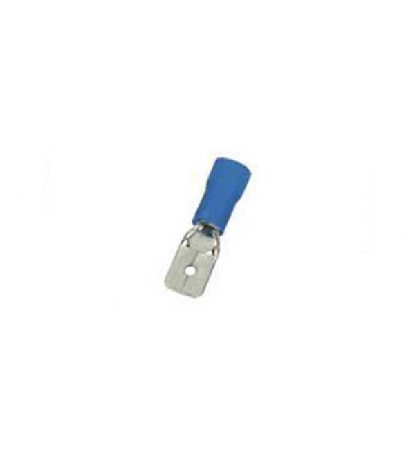 Crimp Terminal Blue Male SPade Semi INsulated