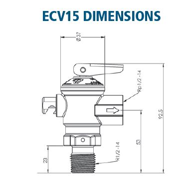 Cold Water Expansion Valve dimensions