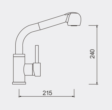 Enrico Pull Out Sink Mixer