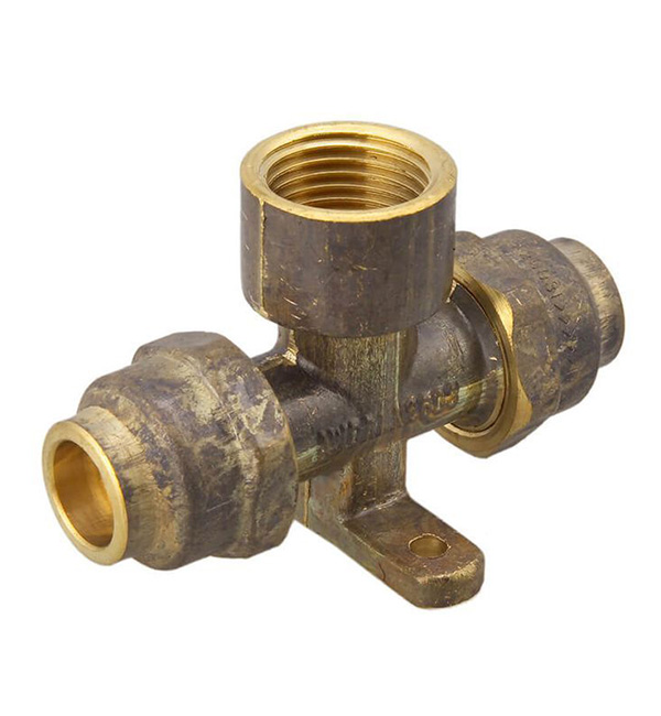 15mm x 15mm x 15 FI CENTRE FLARE TEE BRASS LUGGED