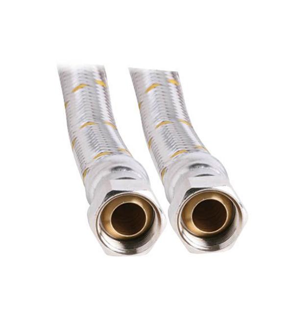 """19mm SS Gas Hose 3/4"""" BSP FC x 3/4"""" BSP FC 600mm"""