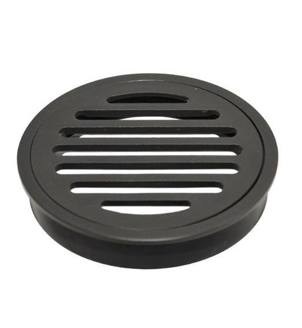 Floor Grate Round Matte Black