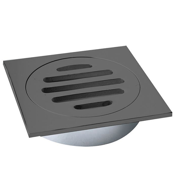 Floor Grate Square Matte Black