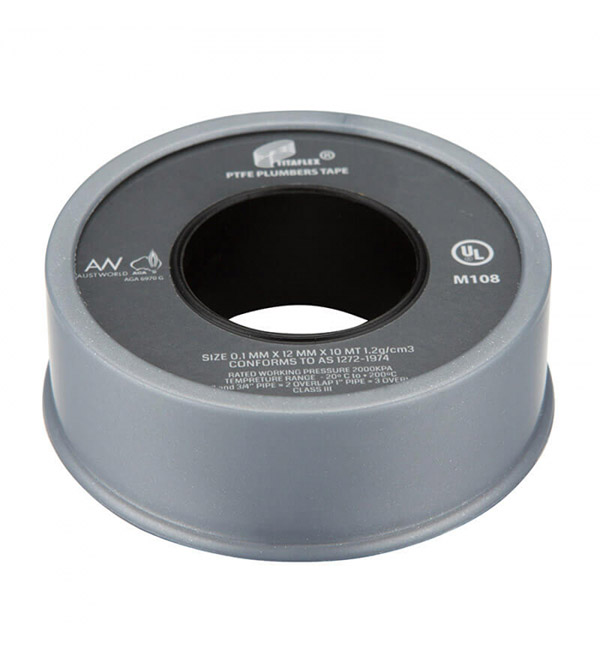 Fit off thread tape grey gas and water