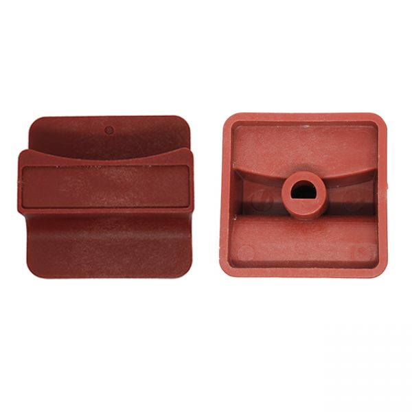 KG1036 - Knob Red 55mm Square 8.5mm shaft