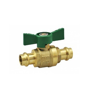 Press FIT Butterfly Water Ball Valve CU