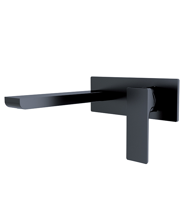 Astra Wall Basin Mixer Matte Black