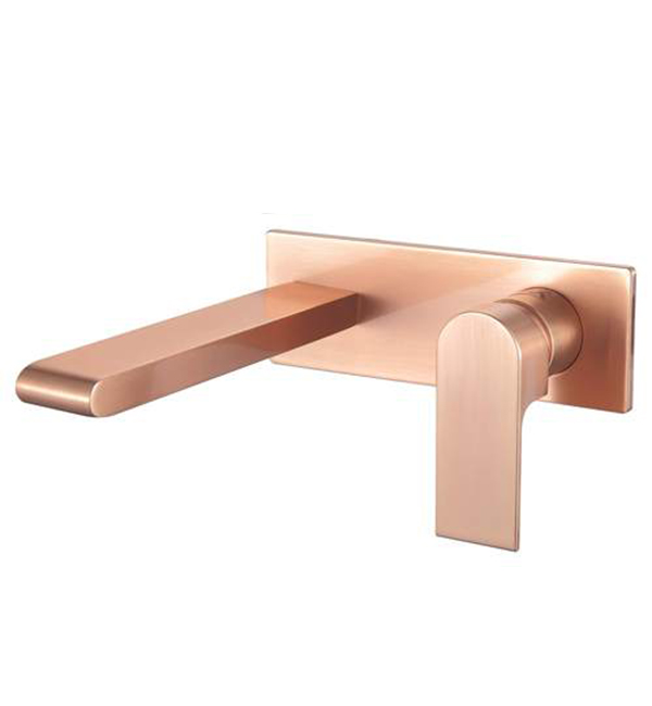 Bianca Wall Basin Mixer Brushed Rose Gold