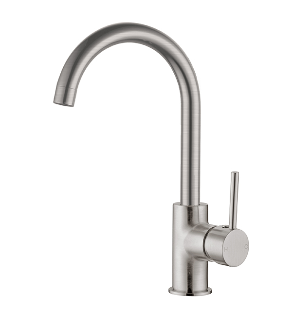 Dolce Gooseneck Kitchen Mixer Brushed Nickel