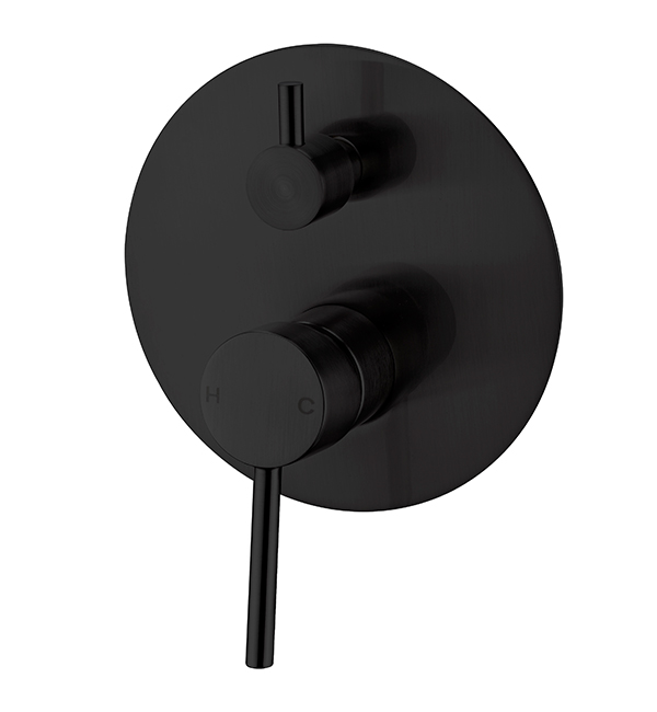 Dolce Shower Diverter Mixer Matte Black