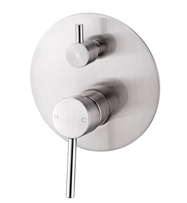 Dolce Shower Diverter Mixer Brushed Nickel